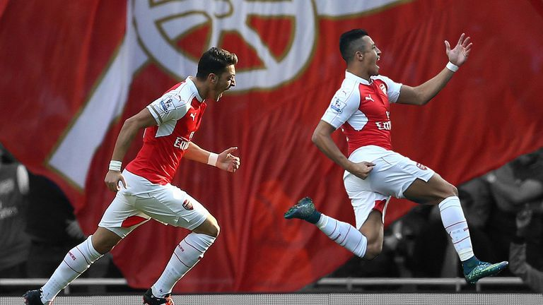 Arsenal have Mesut Ozil (left) and Alexis Sanchez to return from injury