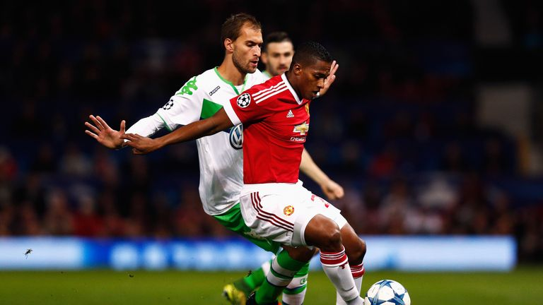 Antonio Valencia in action against Wolfsburg last month