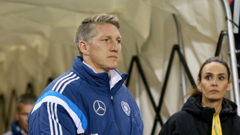 Bastian Schweinsteiger of Germany limped out of the warm-up against the Republic of Ireland