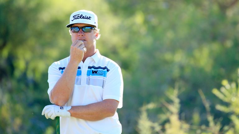 Charley Hoffman remains in contention after a birdie-run along the back nine