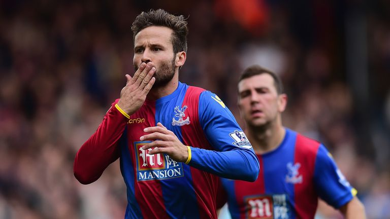 Yohan Cabaye has scored five league goals for Crystal Palace