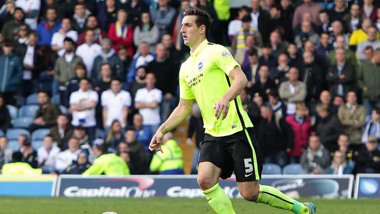 Brighton defender Lewis Dunk is suspended