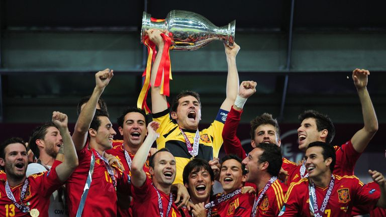 Spain defended their crown at Euro 2012 after a 100 per cent qualifying campaign