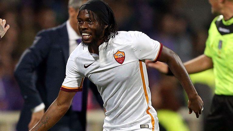 Gervinho celebrates after scoring for Roma