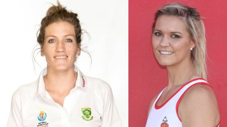 Karla Mostert (left) and Lenize Potgieter are heading to Team Bath