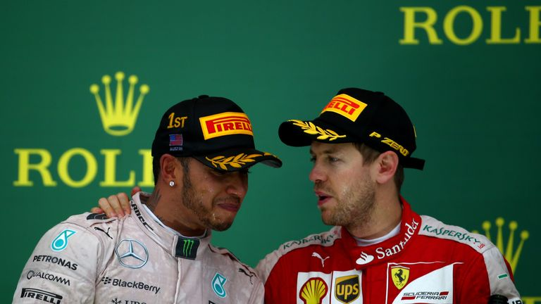 Hamilton and Vettel are the two favourites for the 2016 title