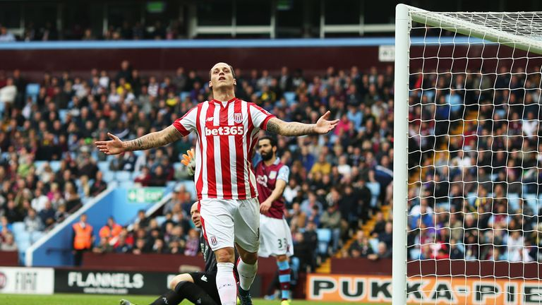 Marko Arnautovic scored the only goal of the game for Stoke against Aston Villa