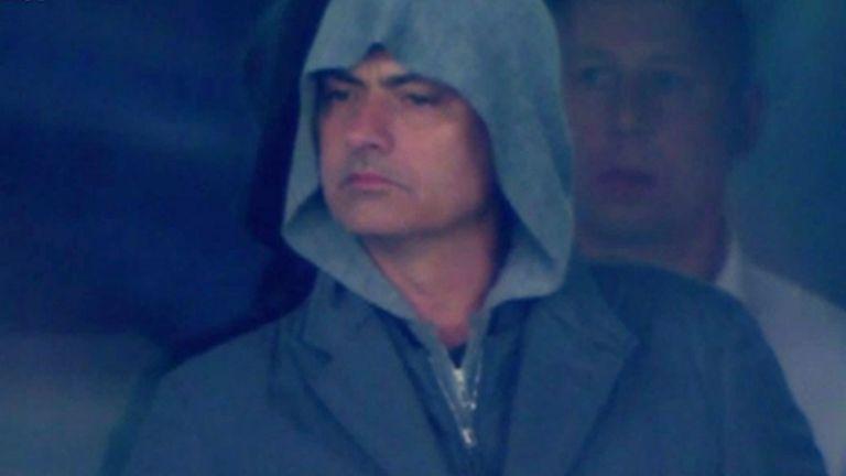 Chelsea boss Jose Mourinho was spotted in Kiev last week by the Sky Sports cameras