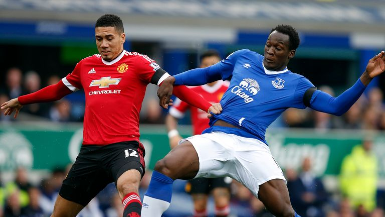 Chris Smalling had a strong game as he coped well with the physical presence of Romelu Lukaku