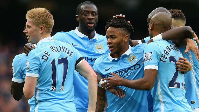 Manchester City sit top of the Premier League table, courtesy of goal difference