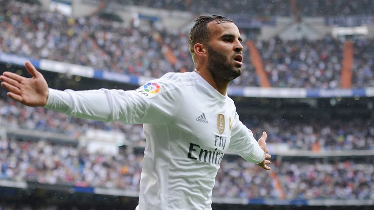 Jese Rodriguez celebrates after scoring Real's third goal
