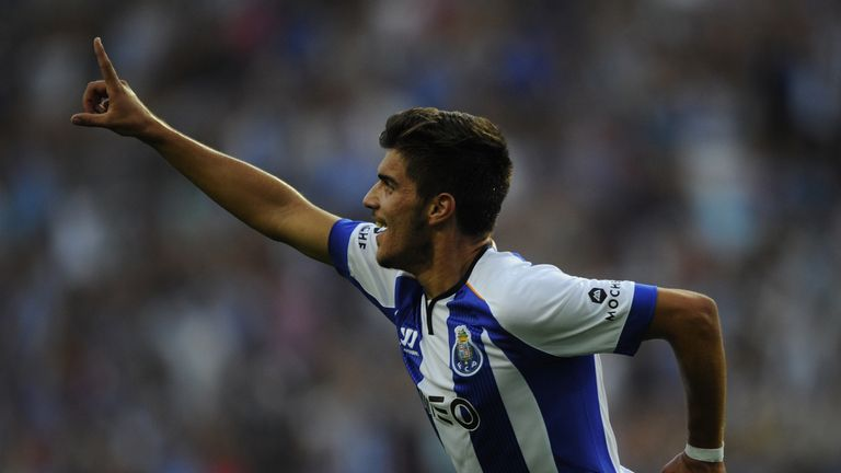 Neves celebrates scoring on his debut against Maritimo