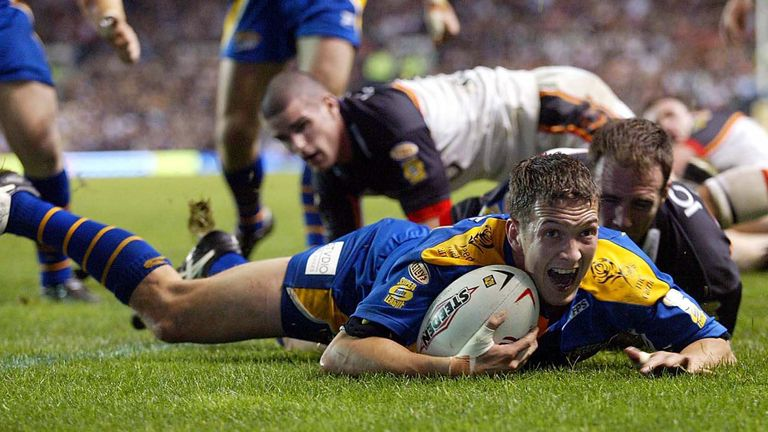 Danny McGuire slid over for the winning try against Bradford to cue Leeds ecstasy
