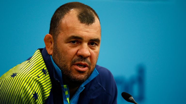 Michael Cheika has twice come to referee Craig Joubert's defence