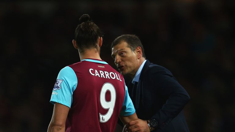 West Ham manager Slaven Bilic is glad to have Andy Carroll back in contention