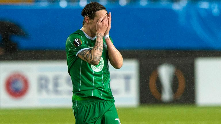 Celtic's Stefan Johansen cut a dejected figure after his side conceded immediately after pulling a goal back