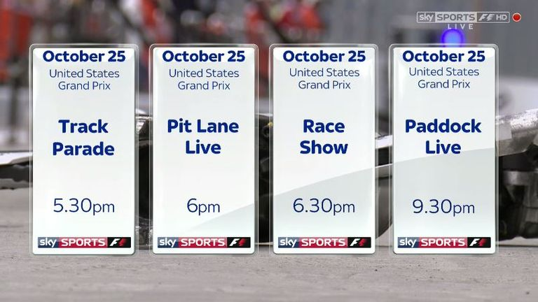 Don't miss the United States GP live on Sky Sports F1