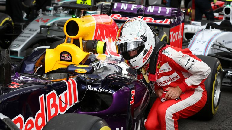Vettel paid close attention to his former team Red Bull's car in Mexico