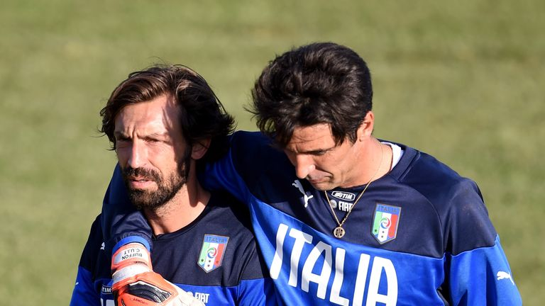 Andrea Pirlo and Gianluigi Buffon were Italy and Juventus team-mates