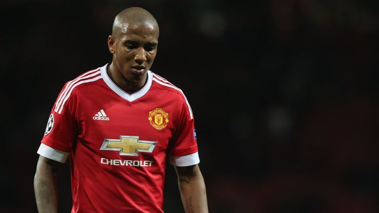 Young has seen his opportunities limited under Mourinho
