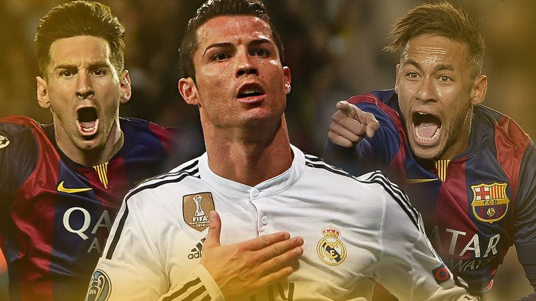 Lionel Messi, Cristiano Ronaldo and Neymar are on the 2015 Ballon D'or shortlist