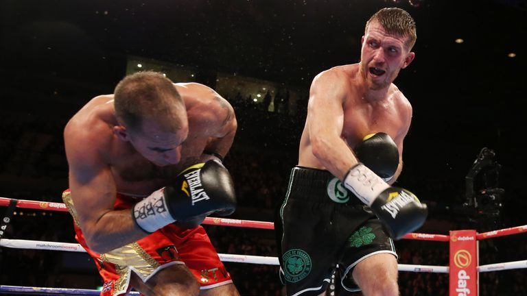Scott Cardle(left) and Sean Dodd (right) were involved in a cracking lightweight scrap