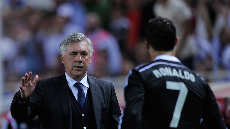 Carlo Ancelotti worked with Cristiano Ronaldo at Real Madrid