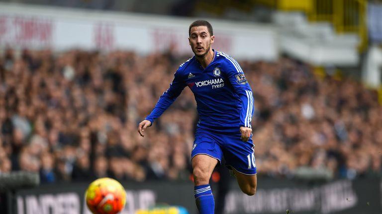 Eden Hazard was preferred to Costa in attack for Chelsea
