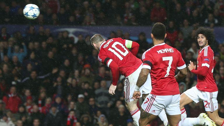 Wayne Rooney heading home Jesse Lingard's cross on 79 minutes