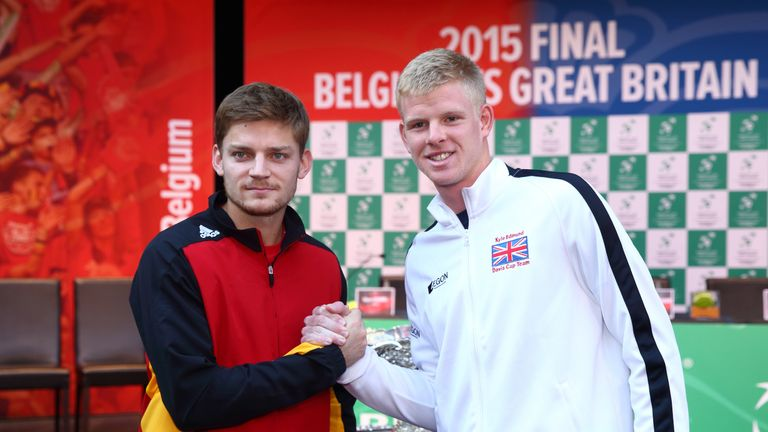 Kyle Edmund will play David Goffin when he makes his Davis Cup debut in Friday's opening singles match