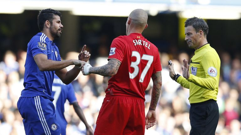 Chelsea's Diego Costa (left) will not face FA punishment