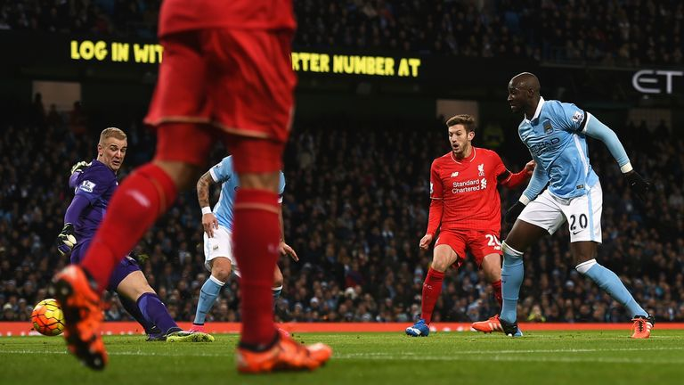 Eliaquim Mangala turns the ball past Joe Hart and into his own net