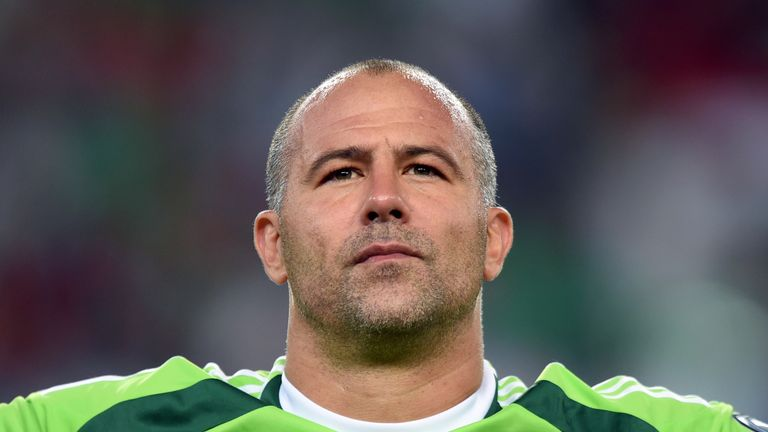 Gabor Kiraly is in line to win his 100th cap for Hungary