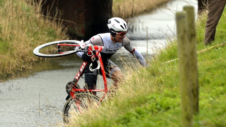Gert Steegmans was blown into a canal during last year's Gent-Wevelgem