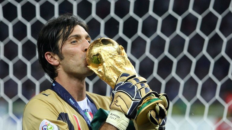 Buffon won the World Cup with Italy in 2006