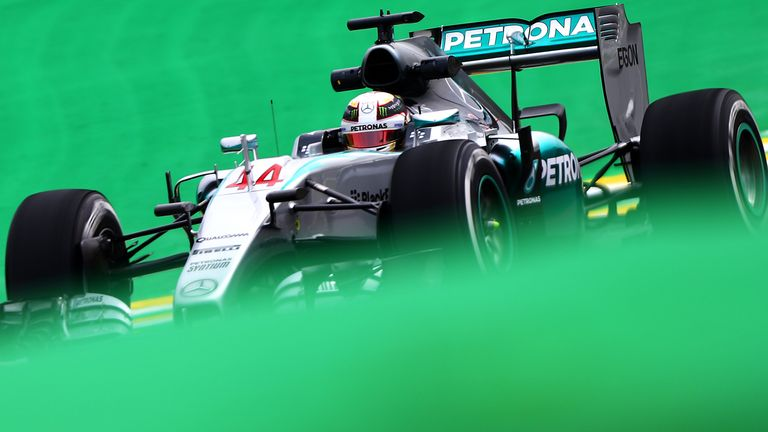 Hamilton topped a P1 session for the first time since September's Italian GP