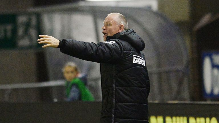 Inverness manager John Hughes will be watching his side from the stand on Saturday after being handed a touchline ban
