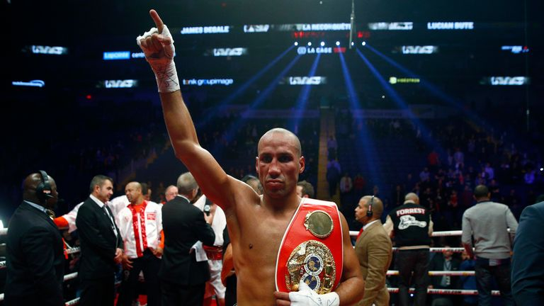 Degale celebrates after his win over Bute