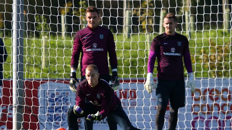 Butland is currently behind Joe Hart in the England pecking order