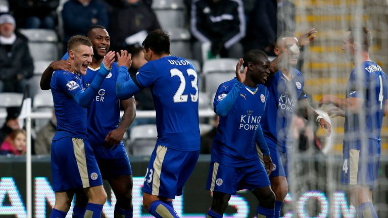 Leicester went top after a comfortable win over Newcastle