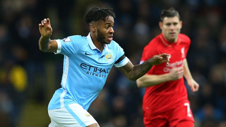 Raheem Sterling of Manchester City had a quiet game against his former club