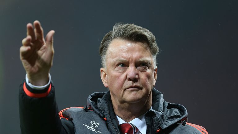 Man Utd boss Louis van Gaal acknowledges the Old Trafford faithful after his side's victory over CSKA Moscow