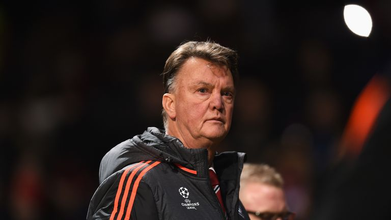 Manchester United are not contenders for this season's Champions League, according to manager Louis van Gaal