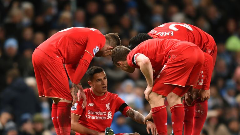 Coutinho was substituted after 63 minutes with hamstring tightness