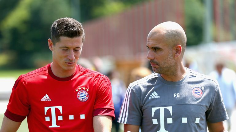 Guardiola (right) has been at Bayern for two-and-a-half years, winning two Bundesliga titles