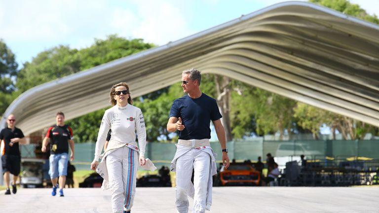 Susie Wolff partnered David Coulthard for Team Scotland