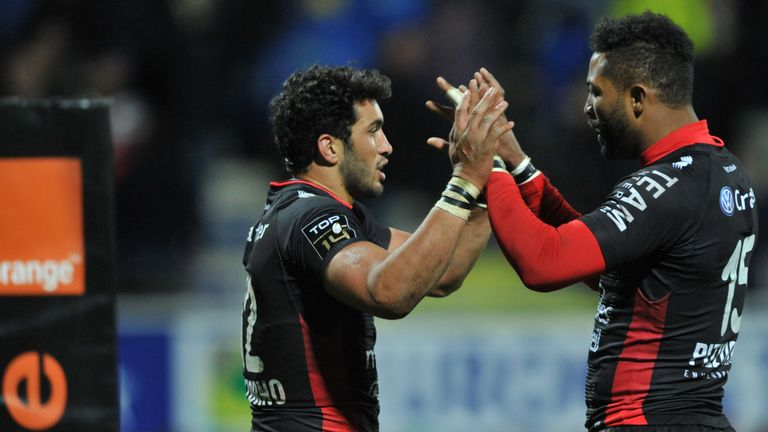 Toulon duo Maxime Mermoz (left) and Delon Armitage