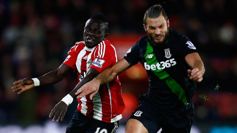 Stoke's Erik Pieters (right) ranks highly in a number of defensive categories