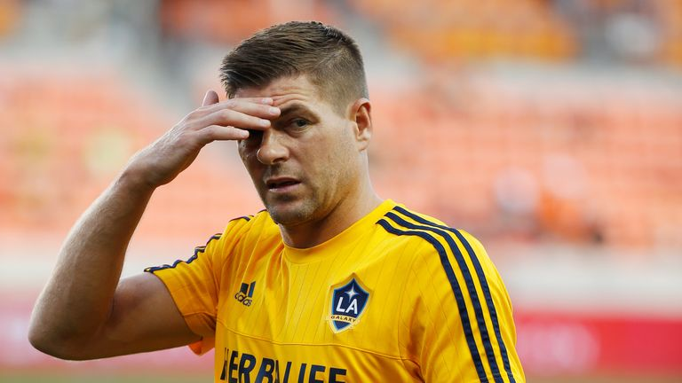 Steven Gerrard admits he has struggled since moving to the United States