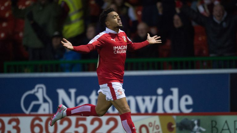 Swindon Town's Nicky Ajose scored the winner